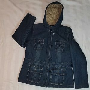 Limited Too insulated Jean Jacket girls XL/16